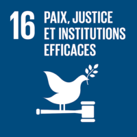 ODD n°16 - Paix, justice et institutions efficaces